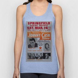 1967 Johnny Cash, Carter Family, Carl Perkins at Springfield Shrine Mosque Concert Poster Unisex Tank Top