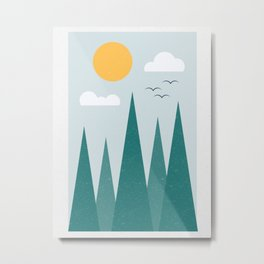 Triangle Forest Metal Print
