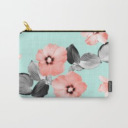 Living Coral Floral Dream #3 #flower #pattern #decor #art #society6 Carry-All Pouch