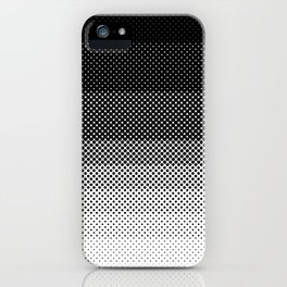 A lot of dots, like a lot. Then less dots. Lesser and lesser and lesser, untili no dblack dots anymo iPhone Case
