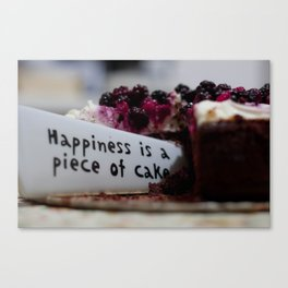 Happiness is Cake Canvas Print