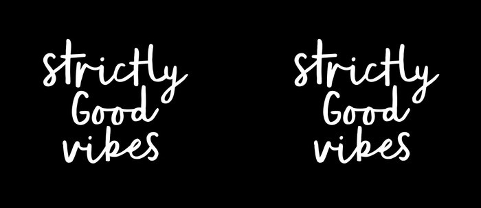 Strictly Good Vibes black-white contemporary minimalist typography poster home wall decor bedroom Coffee Mug