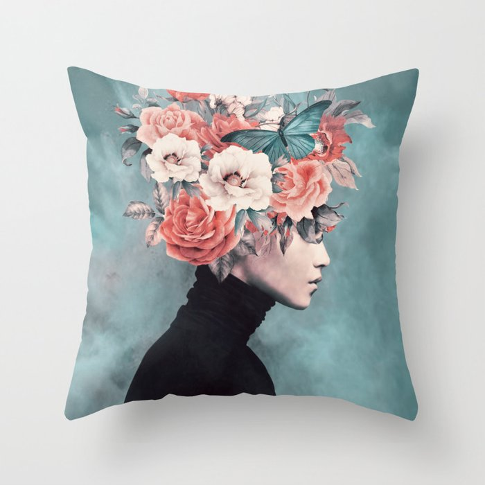 blooming 3 Throw Pillow