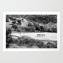 Horse Ranch Art Print
