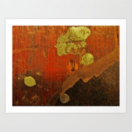 Painters Floorboard Art Print