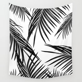 Black Palm Leaves Dream #1 #tropical #decor #art #society6 Wall Tapestry