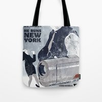 seinfeld Tote Bags featuring For Seinfeld Fans by Alain Cheung