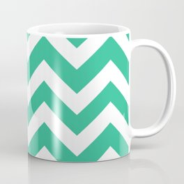 Mountain Meadow - green color - Zigzag Chevron Pattern Coffee Mug