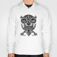 egyptian Hoodies featuring Baby Egyptian Owl by Rachel Caldwell