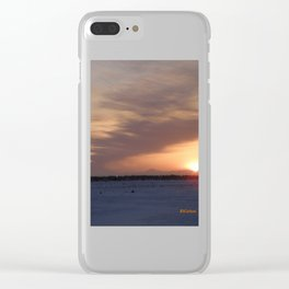 Mt. Redoubt Ashflow at Sunset #1 Clear iPhone Case