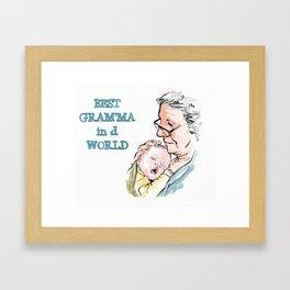 Granny love. Framed Art Print