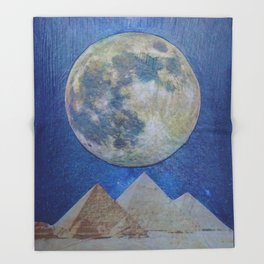 Moon Party Throw Blanket