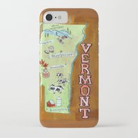 vermont iPhone & iPod Cases featuring VERMONT by Christiane Engel