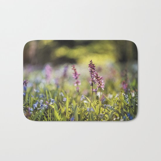 Spring flower meadow I - Beautiful flowers on #Society6 Bath Mat