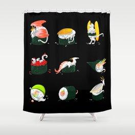 Sushi Dragons Shower Curtain