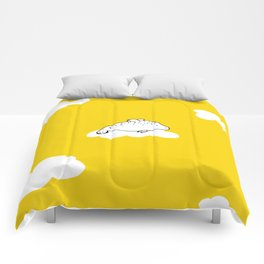 Flying Manatee by Amanda Jones Comforters