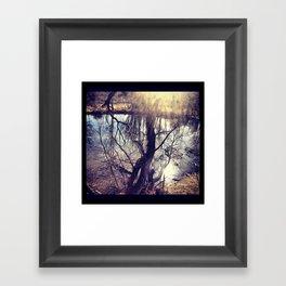tree fort. Framed Art Print