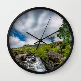 Cwm Idwal Rapids Snowdonia Wall Clock