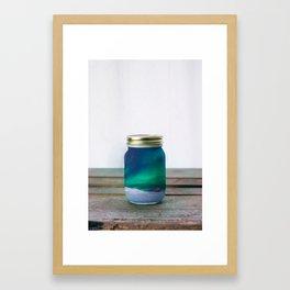 Captured Aurora Borealis Framed Art Print