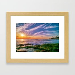 The Reef at Low Tide Framed Art Print