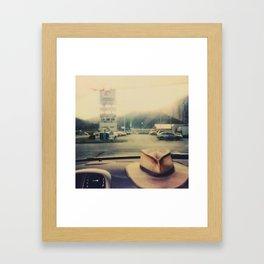Windshield - Instant Photo Framed Art Print