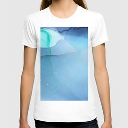 Blanket of Stars fluid ink abstract painting T-shirt