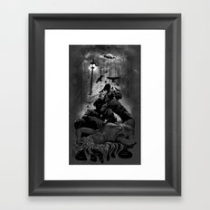When the Moon Bleeds Framed Art Print