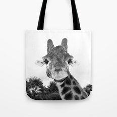 Giraffe. B+W. Tote Bag