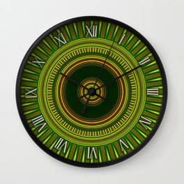Mirror Lab Mandalas 2 Wall Clock