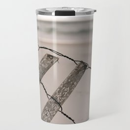 Santa Rosa Beach fence Travel Mug