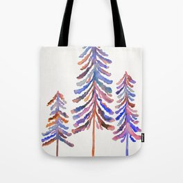 Pine Trees – 90s Color Palette Tote Bag