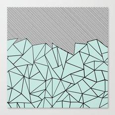 Ab Lines 45 Mint Canvas Print