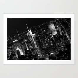 Manhattan skyscrapers Art Print