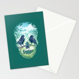Nature's Skull (Green) Stationery Cards