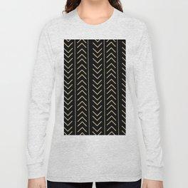 Mudcloth Black Long Sleeve T-shirt