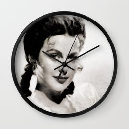 Hedy Lamarr, Vintage Actress Wall Clock