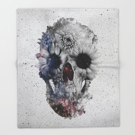 Floral Skull 2 Throw Blanket