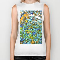 maps Biker Tanks featuring Funky Maps, LONDON by MehrFarbeimLeben