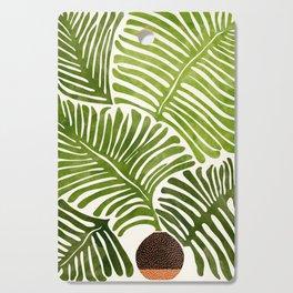 Summer Fern / Simple Modern Watercolor Cutting Board