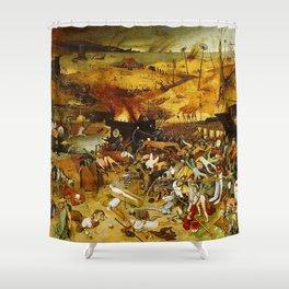 Vivid Retro - The Triumph of Death Shower Curtain