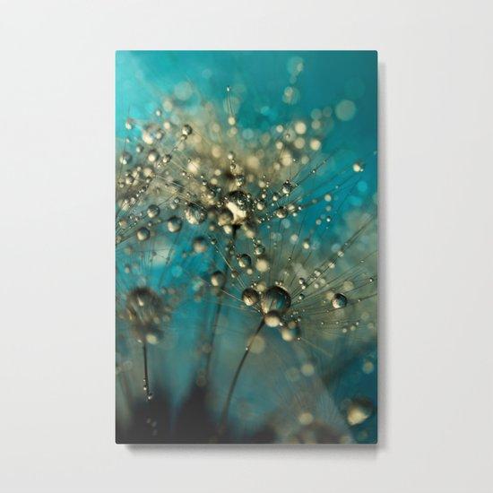 Bold Blue Dandy Sparkles Metal Print