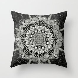 Fins + Feathers Throw Pillow