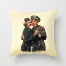B&B ...Back in the Army (White Christmas) Throw Pillow