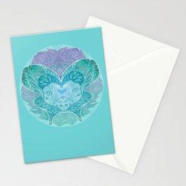 Butterfly mandala Stationery Cards