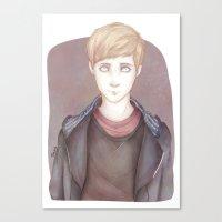 kieren walker Canvas Prints featuring In The Flesh - Kieren Walker by SerenaArtworks