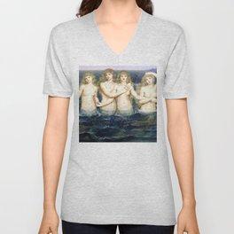 """Evelyn De Morgan """"The Sea Maidens"""" Unisex V-Neck"""