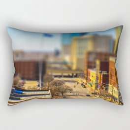 Bricktown Street by Monique Ortman Rectangular Pillow