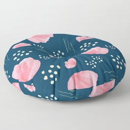 Minimal Pink Petals 02 Floor Pillow