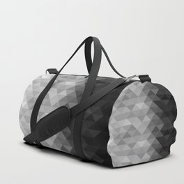 Grayscale triangle geometric squares pattern Duffle Bag