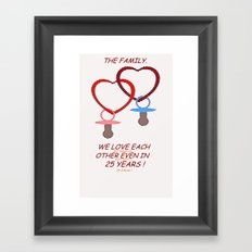 LOVE AND FUTURE. Framed Art Print